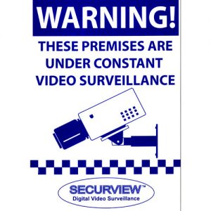 Securview VSA24 Warning Sign - A4 Size Blue Print on Corflute