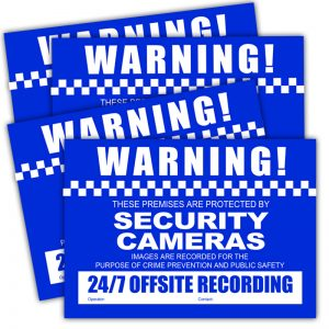 Watchguard VSCDSC CCTV Warning Stickers (4 pack) - A4 Size