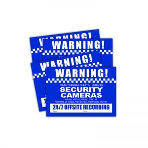 Watchguard VSCDSCS CCTV Warning Stickers (4 pack) - Small Size